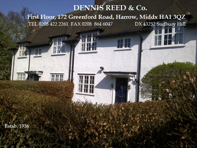DENNIS REED & Co.  Estab. 1936.  Call 0208 422 2261